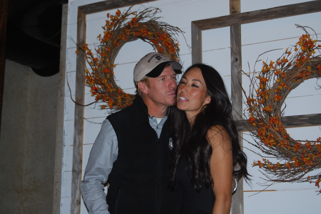 Chip and Joanna Gaines at their fall workshop in Waco, Texas. Fall 2014.