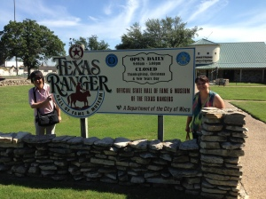 Friends visiting from Singapore at the Texas Ranger Museum in Waco, Texas