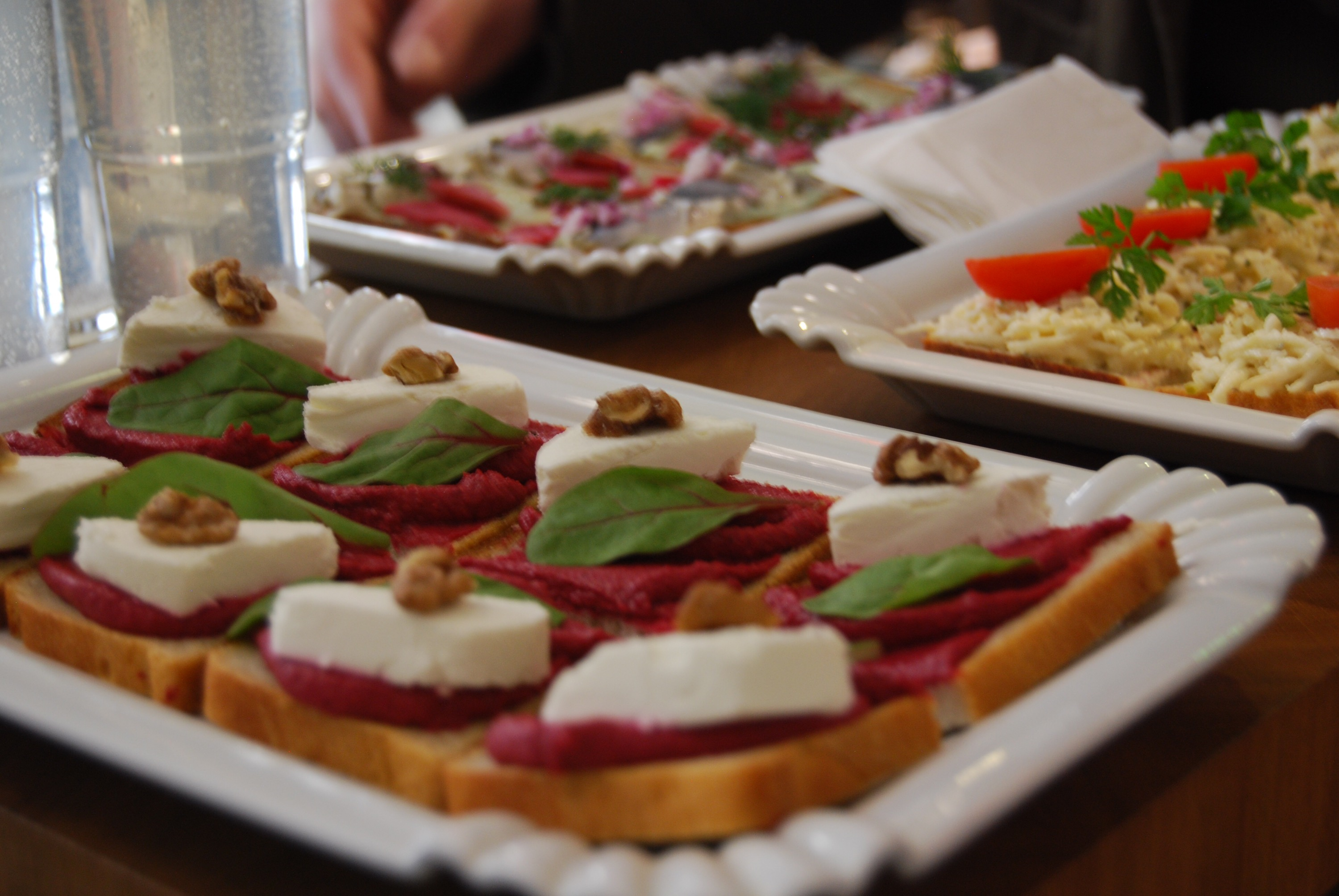 Open faced sandwiches from Sisters in Prague on PieLadyLife.com
