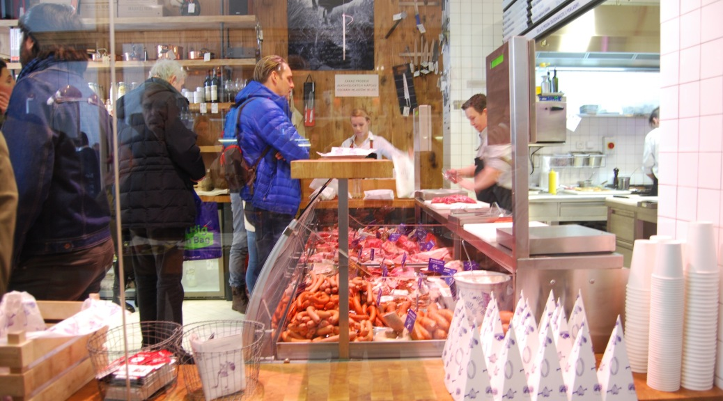 Our Eating Prague Tour included a visit to Naso Maso meat market. PieLadyLife.com