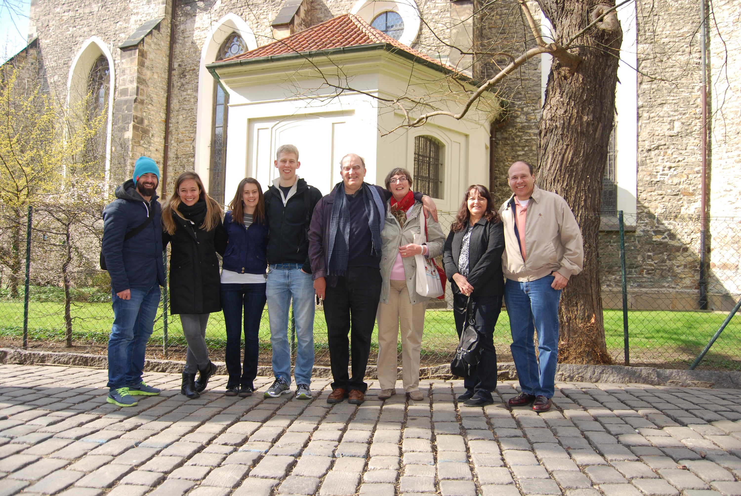 Our merry band of foodies on our Eating Prague Tour