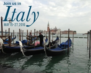 Join us in Italy May 15-27, 2016! Only a few spaces left on this amazing small group food and wine tour! Visit www.PieLadyLife.com for details! We would love to have you come along!