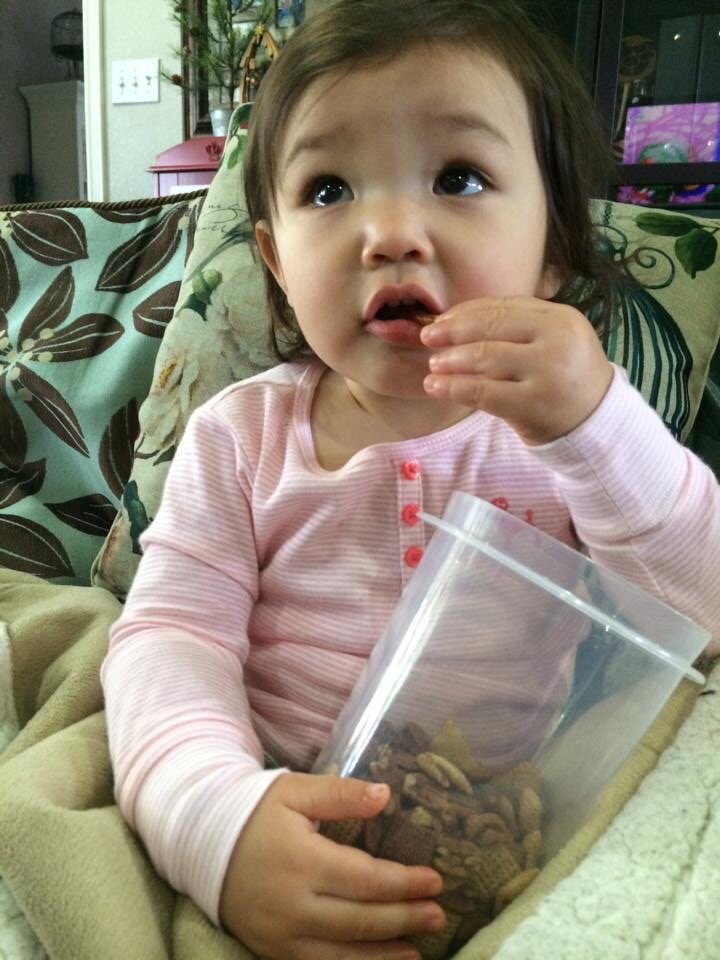 Baked Chex Mix is is kid approved by my snack lovin' granddaughter! www.Pie LadyLife.com