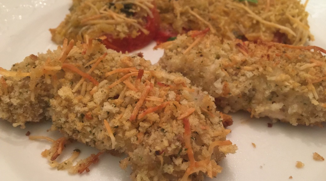 Easy Italian Chicken Tenders and Tomato Bake from www.PieLadyLife.com