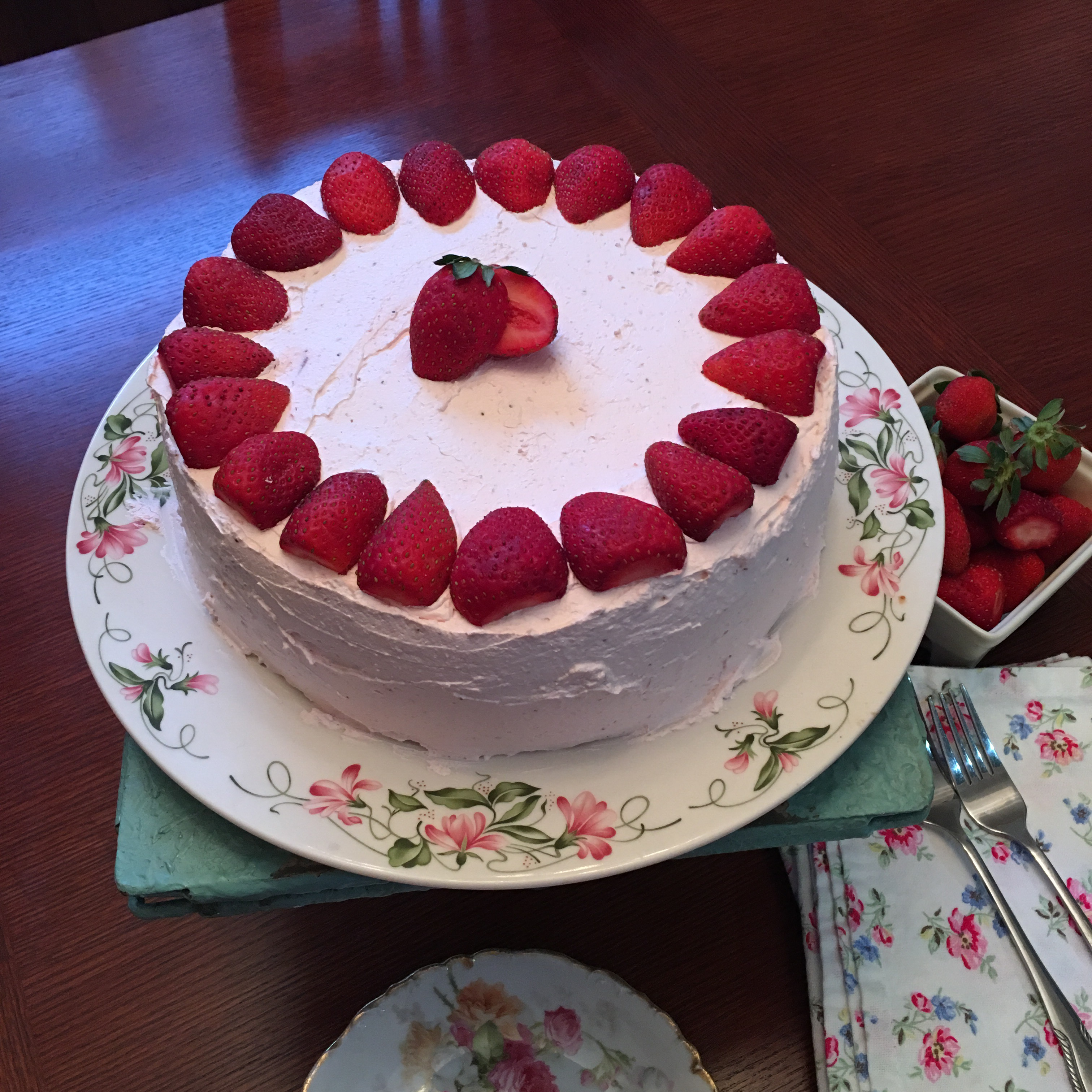 Simple Strawberry Cake Pie Lady Life