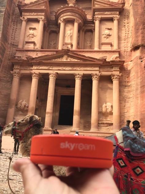 Skyroam at The Treasury at Petra