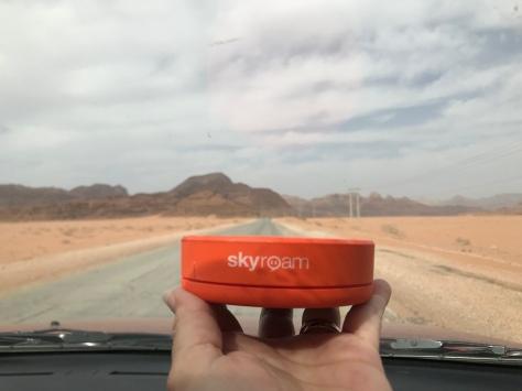 Driving through the Jordan desert